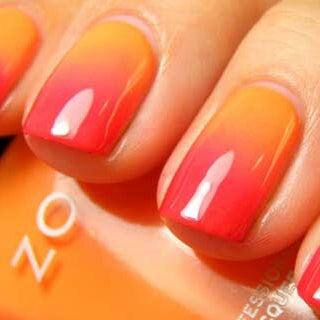 Ногти с плавным переходом цвета