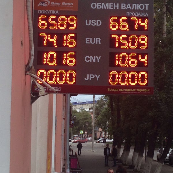 Продажа валюты в банках хабаровска сегодня