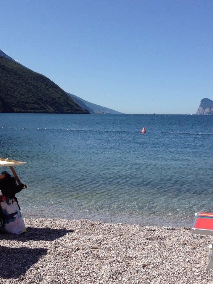 Alessandro just checked in @ Spiaggia Torbole Lago di Garda (Nago-Torbole, Italy)