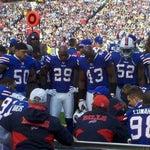 Photo taken at Ralph Wilson Stadium by Mark F. on 12/4/2011