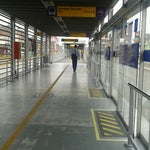 Photo taken at Estación Tomás Valle - Metropolitano by Miguel C. on 12/25/2012