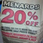 Photo taken at Menards by Michael M. on 1/6/2013