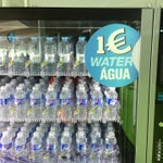 Right after the security check you can buy water for 1€