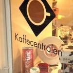 Photo taken at Kaffecentralen by Mervi V. on 10/22/2012