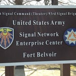 Photo taken at Fort Belvoir - NEC by Ching Y. on 3/19/2013