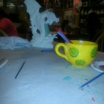 Photo taken at Alisa's Painted Bistro/Color Me Mine by Nancy C. on 3/8/2014