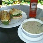 Photo taken at La Bonne Soupe Cafe by Bonnie C. on 4/10/2012
