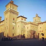 Photo taken at Castello Estense by Stefano S. on 4/9/2012