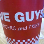 Photo taken at Five Guys by Julie W. on 1/16/2012