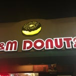 Photo taken at M&M Donuts by Tom C. on 1/27/2013