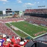 Photo taken at Raymond James Stadium by Justin D. on 10/13/2013