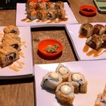 Photo taken at Sushi Den by Dina P. on 1/21/2015