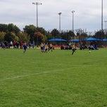 Photo taken at University Of Illinois Soccer Fields by Aaron H. on 10/11/2014
