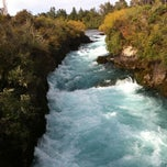 Photo taken at Huka Falls by Narita K. on 3/31/2013