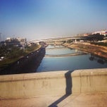 Photo taken at Ponte das Bandeiras by Luis G. on 7/3/2013