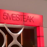 Photo taken at 5IVE STEAK by jeffrey f. on 3/5/2013