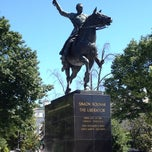 Photo taken at Simon Bolivar, the Liberator Statue by Chris D. on 6/4/2013
