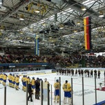 Photo taken at Eissporthalle Frankfurt by Carla C. on 4/21/2013