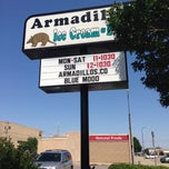 Photo taken at Armadillos Ice Cream Shoppe by Jessica B. on 7/8/2013