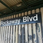 Photo taken at MTA Subway - Rockaway Blvd (A) by Rob C. on 1/27/2013