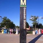 Photo taken at Greenbelt Metro Station by Angel GS 婉. on 7/6/2013
