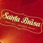 Photo taken at Santa Brasa Authentic Steaks by Daniel P. on 12/23/2012