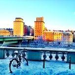 Photo taken at Sankt Eriksbron by Feffe K. on 1/24/2013