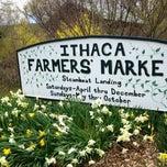 Photo taken at Ithaca Farmer's Market by Min Byul K. on 4/20/2013