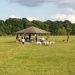 Photo taken at Lyon Oaks Bark Park by Devesh D. on 7/10/2014