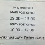 Photo taken at South Post US Post Office by steve k. on 3/22/2013