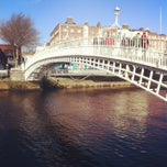 Photo taken at The Ha'penny (Liffey) Bridge by Liisa U. on 2/18/2013