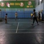 Photo taken at Lapangan Badminton by Yuliana W. on 12/23/2013