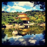 Photo taken at 北山 鹿苑寺 (金閣寺) by Kira A. on 10/9/2012
