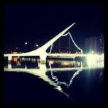 Photo taken at Puente de la Mujer by Luis G. on 2/18/2013