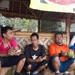 Photo taken at Situ Sawangan by Tisna Jank J. on 3/1/2014