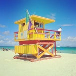 Photo taken at South Beach by Justyna J. on 9/28/2013