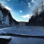 Photo taken at Mass Pike by Cari on 1/23/2013