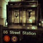 Photo taken at MTA Subway - 86th St (B/C) by Cari on 10/18/2012