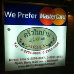 Photo taken at ครัวในบ้าน (Khrua Nai Baan) by Benjamin O. on 12/23/2012