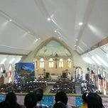 Photo taken at Gereja Katholik Santa Maria by Sabam S. on 12/25/2014