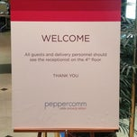 Photo taken at Peppercomm by Ted B. on 1/11/2013