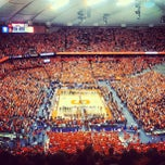 Photo taken at Carrier Dome by Dylan S. on 2/23/2013