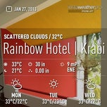 Photo taken at Rainbow Hotel | Krabi by Tanu P. on 1/27/2013