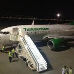 Photo taken at Saparmurat Turkmenbashi International Airport (ASB) by Timur R. on 5/4/2013