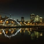 Photo taken at Puerto Madero by Luciana N. on 7/17/2013