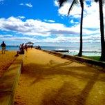 Photo taken at Waikiki Beach Walls by kelli on 7/2/2013