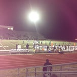 Photo taken at Wilmer Hutchins Football Stadium by Edwina 💟 P. on 11/16/2012