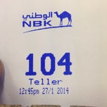 Photo taken at NBK by Adel A. on 1/27/2014