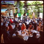 Photo taken at The Biergarten at The Standard by Luis V. on 6/13/2013