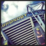 Photo taken at Brøndby Stadion by Lasse L. on 5/5/2013